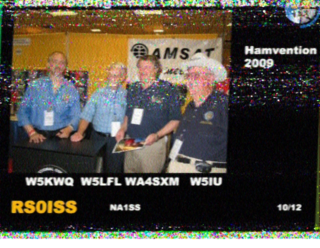 ISS SSTV Images received near Paris, France